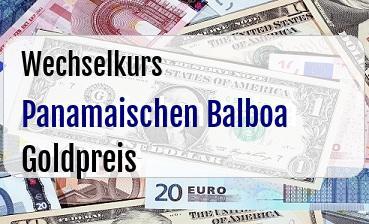 Panamaischen Balboa in Goldpreis