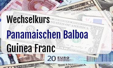 Panamaischen Balboa in Guinea Franc