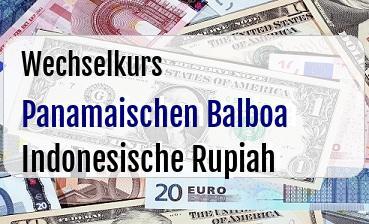 Panamaischen Balboa in Indonesische Rupiah