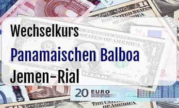 Panamaischen Balboa in Jemen-Rial