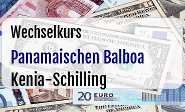Panamaischen Balboa in Kenia-Schilling