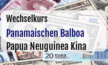 Panamaischen Balboa in Papua Neuguinea Kina