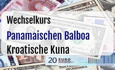Panamaischen Balboa in Kroatische Kuna
