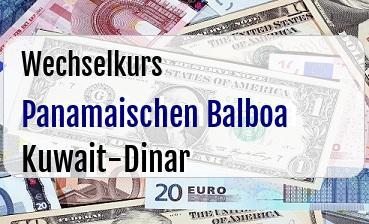 Panamaischen Balboa in Kuwait-Dinar