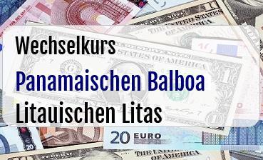Panamaischen Balboa in Litauischen Litas