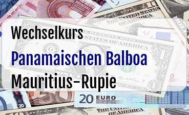 Panamaischen Balboa in Mauritius-Rupie