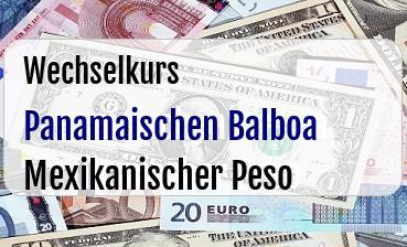 Panamaischen Balboa in Mexikanischer Peso