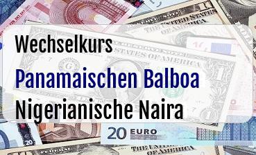 Panamaischen Balboa in Nigerianische Naira