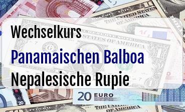 Panamaischen Balboa in Nepalesische Rupie