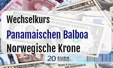 Panamaischen Balboa in Norwegische Krone