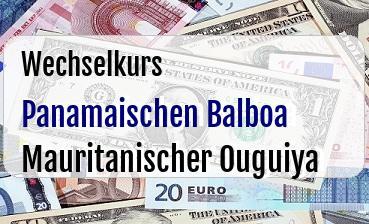 Panamaischen Balboa in Mauritanischer Ouguiya
