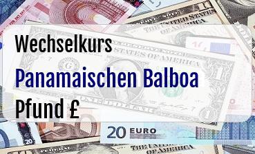 Panamaischen Balboa in Britische Pfund