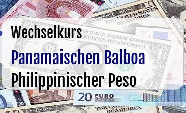 Panamaischen Balboa in Philippinischer Peso