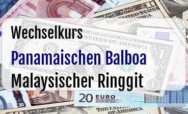 Panamaischen Balboa in Malaysischer Ringgit