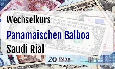 Panamaischen Balboa in Saudi Rial
