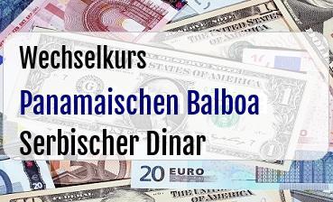 Panamaischen Balboa in Serbischer Dinar