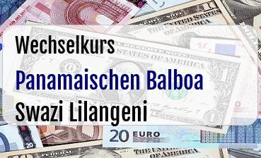 Panamaischen Balboa in Swazi Lilangeni