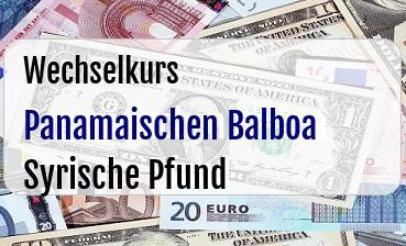 Panamaischen Balboa in Syrische Pfund