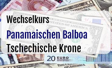 Panamaischen Balboa in Tschechische Krone