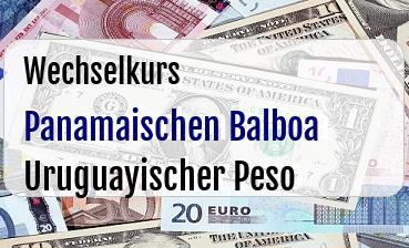 Panamaischen Balboa in Uruguayischer Peso