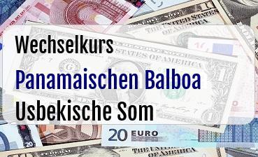 Panamaischen Balboa in Usbekische Som