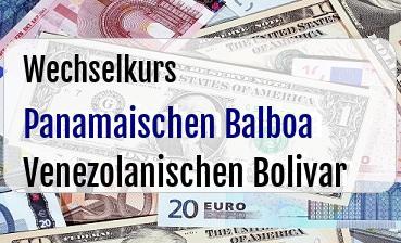 Panamaischen Balboa in Venezolanischen Bolivar