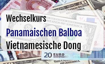 Panamaischen Balboa in Vietnamesische Dong