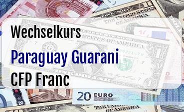 Paraguay Guarani in CFP Franc