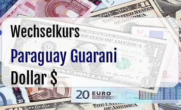 Paraguay Guarani in US Dollar