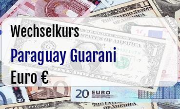 Paraguay Guarani in Euro