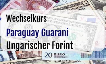 Paraguay Guarani in Ungarischer Forint