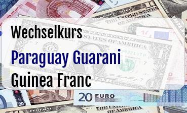 Paraguay Guarani in Guinea Franc