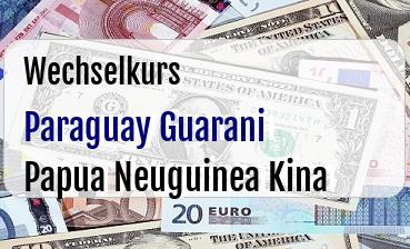 Paraguay Guarani in Papua Neuguinea Kina