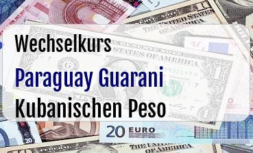 Paraguay Guarani in Kubanischen Peso