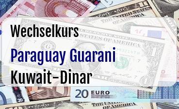 Paraguay Guarani in Kuwait-Dinar