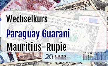 Paraguay Guarani in Mauritius-Rupie