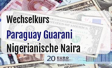 Paraguay Guarani in Nigerianische Naira