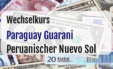 Paraguay Guarani in Peruanischer Nuevo Sol