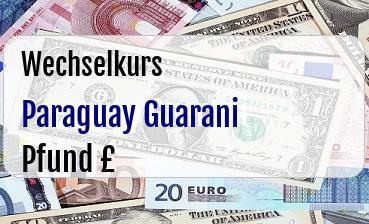 Paraguay Guarani in Britische Pfund