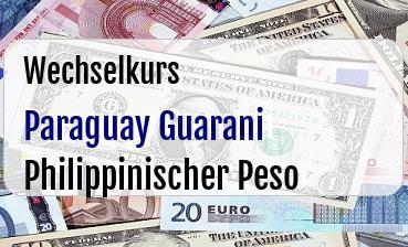 Paraguay Guarani in Philippinischer Peso
