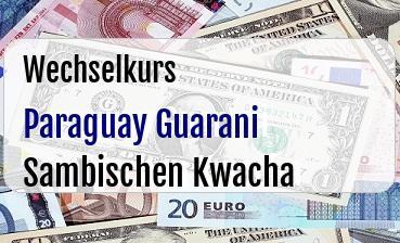 Paraguay Guarani in Sambischen Kwacha