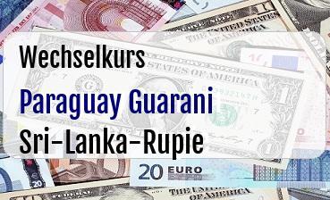 Paraguay Guarani in Sri-Lanka-Rupie