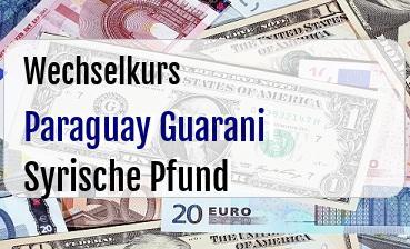 Paraguay Guarani in Syrische Pfund