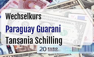 Paraguay Guarani in Tansania Schilling