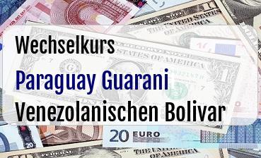 Paraguay Guarani in Venezolanischen Bolivar