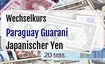 Paraguay Guarani in Japanischer Yen