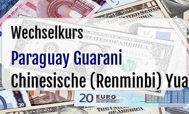 Paraguay Guarani in Chinesische (Renminbi) Yuan
