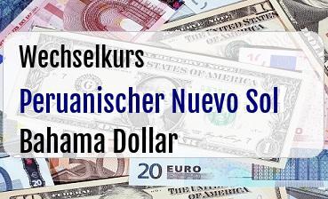 Peruanischer Nuevo Sol in Bahama Dollar