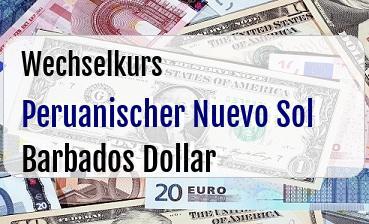 Peruanischer Nuevo Sol in Barbados Dollar