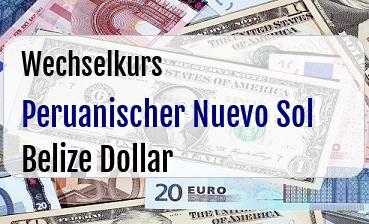 Peruanischer Nuevo Sol in Belize Dollar